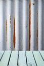 Corrugated Rustic Metal Wood B...