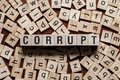 stock image of  Corrupt word concept