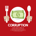 Corruption concept vector illustration eps Royalty Free Stock Photos