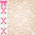 Corset lacing white lace background with and bow Royalty Free Stock Photo