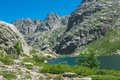 Corsica lac de melo hiking trail to the Stock Photography