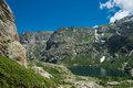 Corsica lac de melo hiking trail to the Royalty Free Stock Image