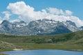Corsica lac de nino hiking trail to the Stock Image