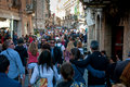 Corso Umberto, Taormina Royalty Free Stock Photography