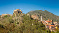 Corte citadel in corsica the and town of Royalty Free Stock Photography