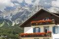 Cortina d ampezzo beautiful dolomite mountains near pomagagnon group sudtirol italy Stock Photo