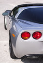 Corvette american muscle car chevrolet covette rear view focus on back lights Royalty Free Stock Photography