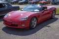 Corvette picture of red convertible during car show Royalty Free Stock Photos