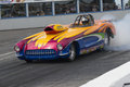 Corvette pro mod napierville dragway july picture of chevrolet modified making a burnout during nhra national open event Stock Image
