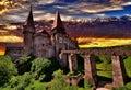 Corvin Hunyadi Castle, Romania Royalty Free Stock Photo