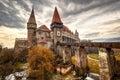 Corvinesti Castle, Hunedoara, Romania Royalty Free Stock Photo