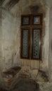 Corvinesti Castle window Royalty Free Stock Photo
