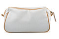 Cosmetic bag white textile isolated on white Stock Images