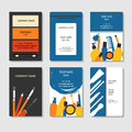 Cosmetic and beauty business cards set Royalty Free Stock Photo