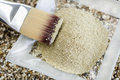 Cosmetic clay kaolin powder on a small dish Stock Photo