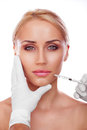 Cosmetic injection Royalty Free Stock Photo