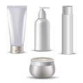 Cosmetic isolated product. 3d  bottle. Plastic  .  series. Royalty Free Stock Photo