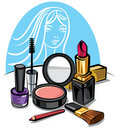 Cosmetic make up kit Royalty Free Stock Photography
