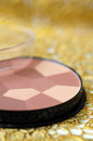 Cosmetic powder makeup multicolor face Royalty Free Stock Photography