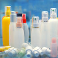 Cosmetic product containers Stock Images
