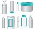 Cosmetic products set of containers illustration Stock Photography