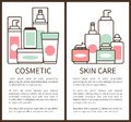 Cosmetic and Skin Care Poster Vector Illustration