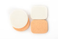 Cosmetic sponges on white background Stock Photography