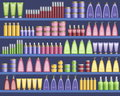 Cosmetic supplies in the supermarket