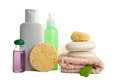 Cosmetics and body care products isolated Stock Photography