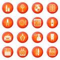 Cosmetics icons vector set