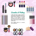 Cosmetics and makeup set various articles Royalty Free Stock Photography