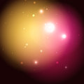 Cosmic background in pink and yellow colors Stock Photos