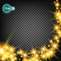 Cosmic glow, Christmas star. In distant space. Concept design for star nebulae isolated on a transparent background. Illustration Royalty Free Stock Photo