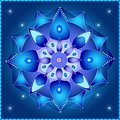 Cosmic mandala symmetrical elements creating a theme Stock Photos
