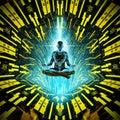Cosmic meditation concept Royalty Free Stock Photo