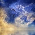 Cosmic Sunset Royalty Free Stock Photo
