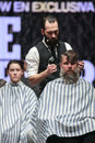 Cosmobelleza 2014. The barber show hairdresser Stock Image