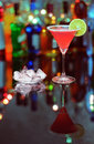 Cosmopolitan cocktail on the bar on the blur background Royalty Free Stock Image