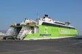 Cosmote highspeed catamaran at heraklion harbor Stock Images