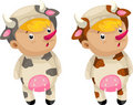Cosplay cow vector Royalty Free Stock Photography