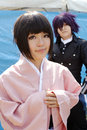 Cosplay girl japan may young japanese dressed in costume at mamugame jou park contest may in kagawa japan Stock Image
