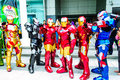 Cosplayer as characters iron man from marvel comics bangkok may in oishi world cosplay fantastic on may at central world bangkok Royalty Free Stock Photography