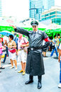 Cosplayer as characters nazi soldier bangkok may in oishi world cosplay fantastic on may at central world bangkok thailand Royalty Free Stock Photo