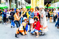 Cosplayer as characters from one piece bangkok may monkey d luffy sanji nami tony tony chopper portgas d ace trafalgar law and boa Royalty Free Stock Photo