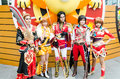 Cosplayers as characters dynasty warrior in oishi world cosplay fantastic bangkok may on may at central bangkok thailand Stock Photo