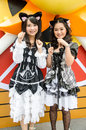 Cosplayers as characters kuroneko of ore no imouto ga konnani kawaii wake ga nai in oishi world cosplay fantastic bangkok may on Stock Photos