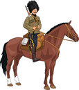 Cossack on the horse world war era russian Stock Photos