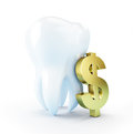 Cost of dental treatment Royalty Free Stock Image