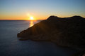 Costa blanca sunrise scenic mediterranean on alicante spain Royalty Free Stock Image