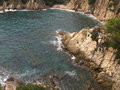 Costa brava cliffs detail of the in girona spain Royalty Free Stock Photography